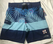 Nwt Pipeline Mens Board Surf Shorts Swimsuit 34 4-way Stretch S20010mb Navy