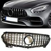 Front Grille Grill Cover For 2015-2016 Mercedes Benz R190 C190 Amg Gt S 2 Door