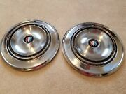 Lot Of 2 Buick Rally Hubcaps W/ Center Caps 1960and039s Or Early 1970and039s