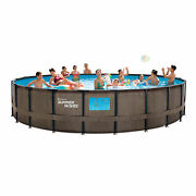 Summer Waves 22ft X 52in Elite Above Ground Swimming Pool W/ Pump Ladder And Cover