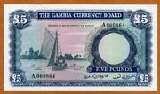 Gambia 5 Pounds Nd 1965-1970 P-3 Unc