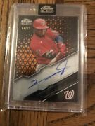 2020 Topps Chrome Black Victor Robles On Card Auto /25