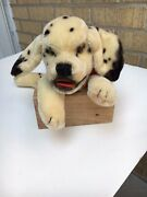 Rare Vintage New Steiff Mimic Dally Dalmation Dog Puppet 0328 Button Tags 1959