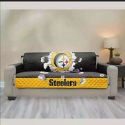 Pittsburgh Steelers Reversible Sofa Couch Cover Furniture Protector Microfiber