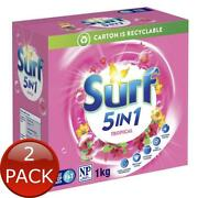 2 X Surf Laundry Powder Top And Front Loader Tropical 1kg Detergents Softeners