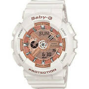 Test Item Do Not Buy - Casio Women's Baby-g White And Rose Gold Watch