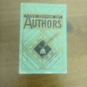 Vintage Whitman Card Game- Game Of Authors. Shakespeare, Dickens, Poe, Emerson.