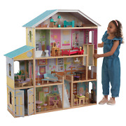Kidkraft Majestic Mansion Wooden Dollhouse With 34 Accessories, Working Elevator