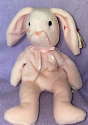 Ty Rare Discontinued Beanie Babies Hoppity Rabbit - Pink Style 4117 Pvc