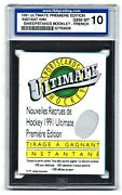 1991 Ultimate Premier Edition Win Sweepstakes Booklet-french Isa 10 52763636