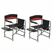 Beach Chairs Portable Chair Camp Chair Oversize Padded Seat With Side Table And