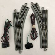 Ho Scale Rh And Lh Remote E-z Switch Grey Track Bachmann Trains Gray Bed
