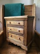 A Lovely Victorian Miniature Pine Chest Of Drawers Apprentice Love Piece