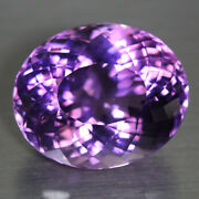 Excellent 51ct 26x21mm If-vvs Oval Natural Amethyst Gemstone