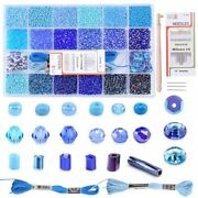 Embroidery Beads Seed Needlework Sewing Bracelet Badges Clothing Tool 21 Grids