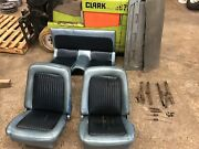 67 68 Ford Mustang Bucket Seats And Folding Rear Seat Fastback 1967 2 Tone Blue