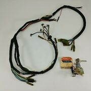 Yamaha Yl2c Yl2cm Yg5t Wire Harness 205-82590-10 + Ignition Switch 164-82508-10