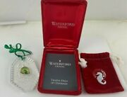 Waterford Crystal 1990 12 Days Of Christmas Ornament 7 Swans Swimming - Nib