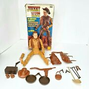 Vintage Johnny West The Movable Cowboy By Marx Over 11 W/box And Accessories