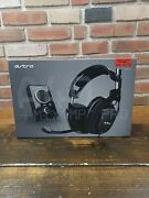 Astro A40 Wired Gaming Headset + Mixamp Pro Pc/xbox/ps3. Preowned. Untested
