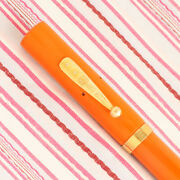 Vintage Watermanand039s Ideal 52 Cardinal Red Hard Rubber Fountain Pen Glossy Orange
