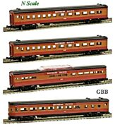 N 1160 Scale Southern Pacific Sunbeam 4 Car Passenger Set Model Power New