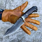 Outdoor Tactical Damascus Steel Knife Camping Survival Hunting Knives Collectors