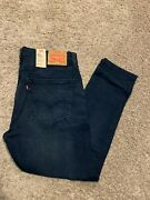 Leviand039s 512 Slim Taper Jeans Wstretch Blue Menand039s Size 36x30 Nwt Rt69 0056