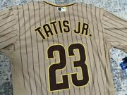 🔥🔥🔥ship From Ussan Diego Padres 23 Fernando Tatis Jr Stitched Menand039s Jersey