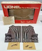 Lionel Mpc O27 6-5027 Right And Left Switches With Instructions In Original Box