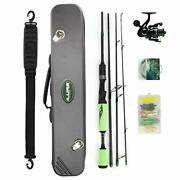 Night Cat Spinning Fishing Rod And Reel Combo Set Assorted Colors , Sizes