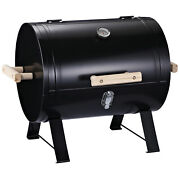 Charcoal Grill 20 Mini Small Smoker Side Fire Box Portable Outdoor Camping