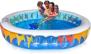 Inflatable Pool Swimming Pool For Adults And Kids, Big Kiddie Pool, Thicker Wear-r