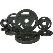 Ifast Weight Plates Cast Iron 2 Olympic Grip Plate Sets 2.5/5/10/25 Lb Workouts