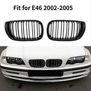 1 Pair Car Grilles Front Bumper Left Right Grills Replacement For E46 2002-2005