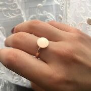 Stainless Steel Round Disc Coin Ring Full Moon Rings Round Bands Womenand039s Jewelry