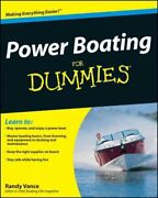 Power Boating For Dummies Paperback By Vance Randy Brand New Free Shippin...