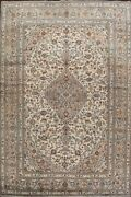 Excellent Vintage Floral Ardakan Ivory/beige Area Rug Wool Hand-knotted 10and039x13and039