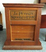 Antique 1880s J.p. Coats Country Store Thread Spools Rotating Display Cabinet
