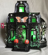 Bath And Body Works 2021 Haunted House Conservatory Luminary /1000 Glows In Dark
