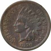 1870 Indian Cent Pick-axe Fs-303 F Uncertified 214