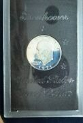 1971 S Proof First Year Of Series Brown Ike Eisenhower Silver Dollar Coin