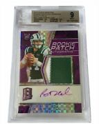 Sam Darnold Auto Patch Rookie Rc 2018 Spectra Neon Purple /50 Bgs 9 Rpa Jersey