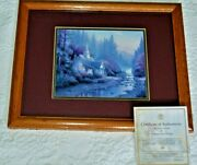 Thomas Kinkade The Forest Chapel Famed Library Edition Certificate Authenticity