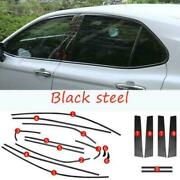Fit For Toyota Camry 2018-2021 Black Stainless Car Window Cover Trim Strip 18pcs