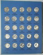 1946 - 1964 Roosevelt Dime Book 2 Us 10 Cent Silver Coins P D And S United States