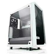 Fractal Design Meshify C Compact Computer Case Tempered Glass White