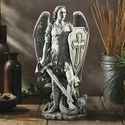 St. Michael The Archangel 12-1/4''h Statue Resin Indoor Outdoor Catholic Statues