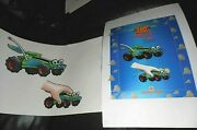 2 Lot Original Art And Proof Ad Poster Disney Toy Story Rc Racer Car Burger King
