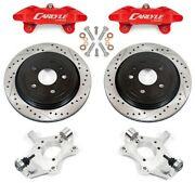 Bmr Corvette C6 15 Brake Conversion Kit By Carlyle Racing Slotted Rotors Red